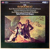 Rafael Fruhbeck de Burgos conducts Falla's El amor brujo - London Treasury LP cover (1976)
