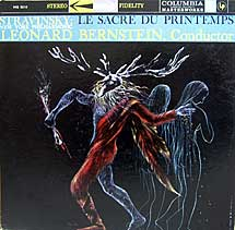 Bernstein Conducts the Rite of Spring - Columbia LP cover