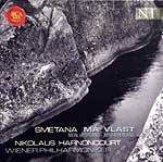 Nikolas Harnocourt conducting the Vienna Philharmonic (2001, RCA CD cover)