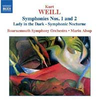 Marin Alsop and the Bournemouth Symphony play Weill (Naxos CD)